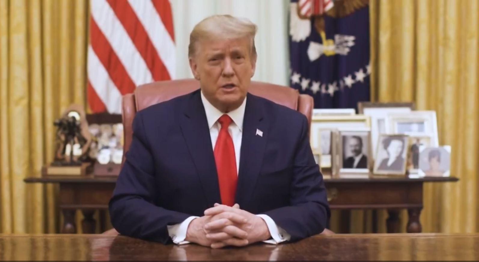 President Donald J Trump Addresses Nation on January 13, 2021