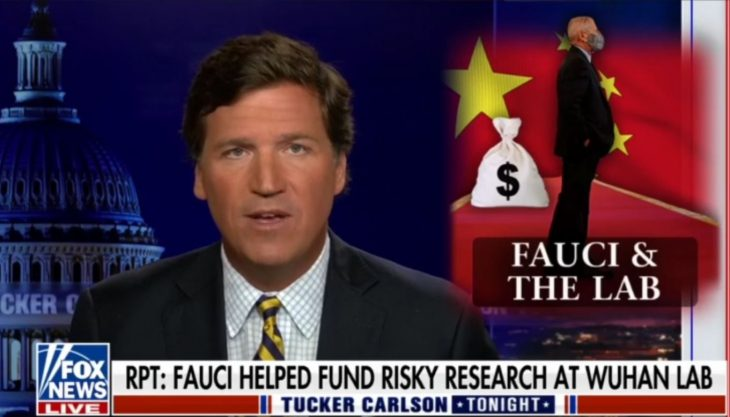 Tucker Carlson Ties Dr. Anthony Fauci to Funding the Wuhan Lab